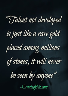Talent Quotes @CravingBiz Daily Motivational