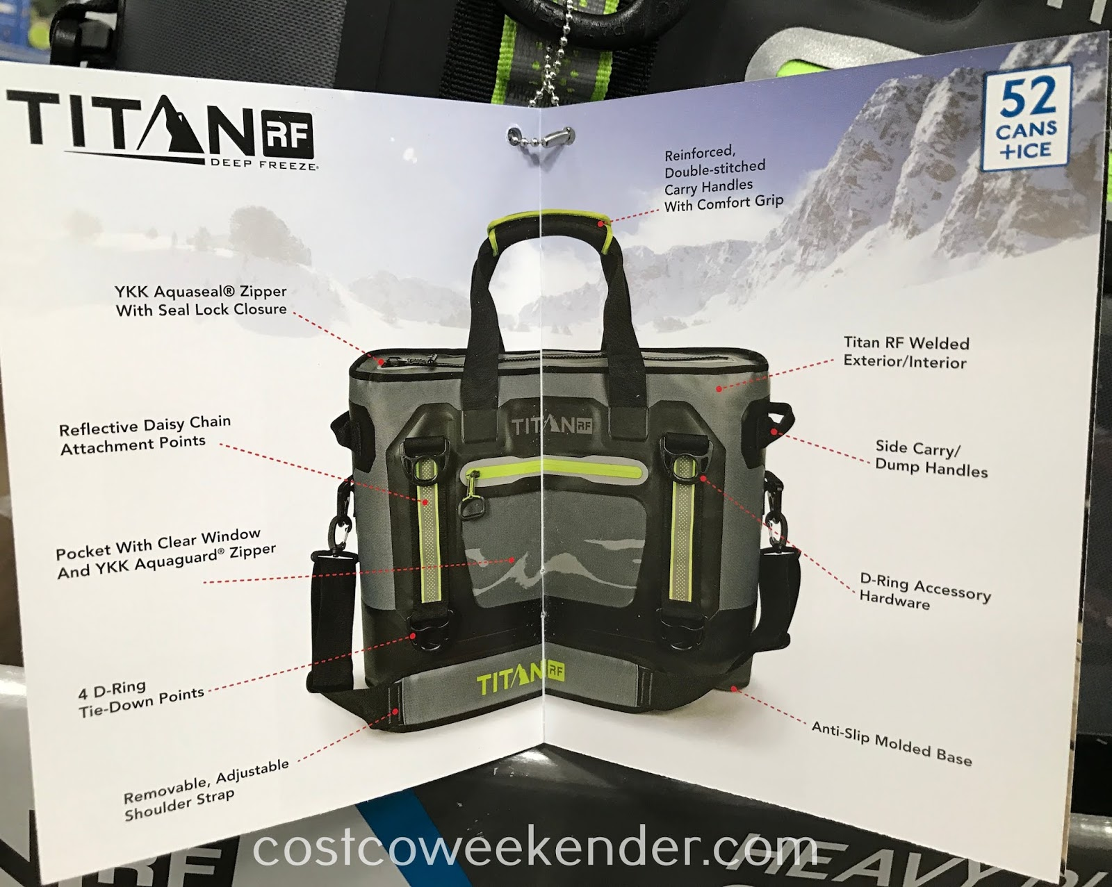 The Titan 52-can Welded Heavy Duty Cooler is not as awkward as a conventional cooler