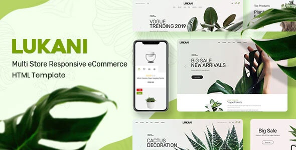 Plant and Flower Shop eCommerce HTML Template