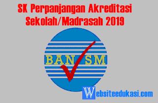 SK Perpanjangan Akreditasi Sekolah/Madrasah 2019
