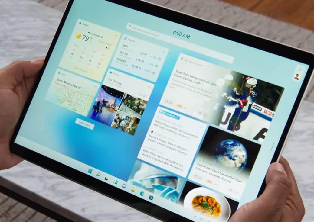 Windows 11 Tam ekran widget'ları