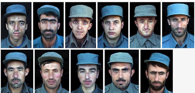 portrety policjantów afgańskich