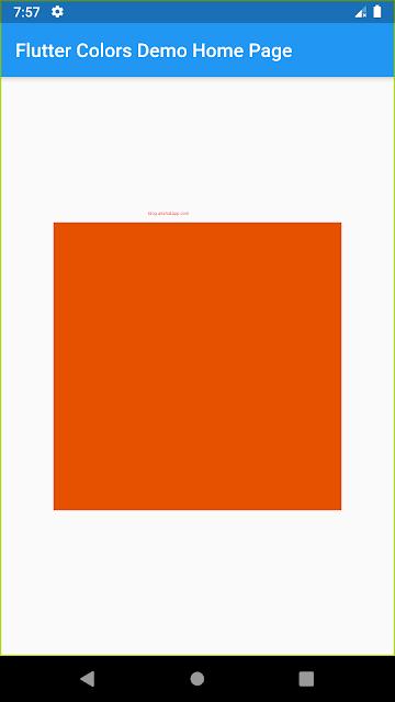 Color Shade Orange 900 UI