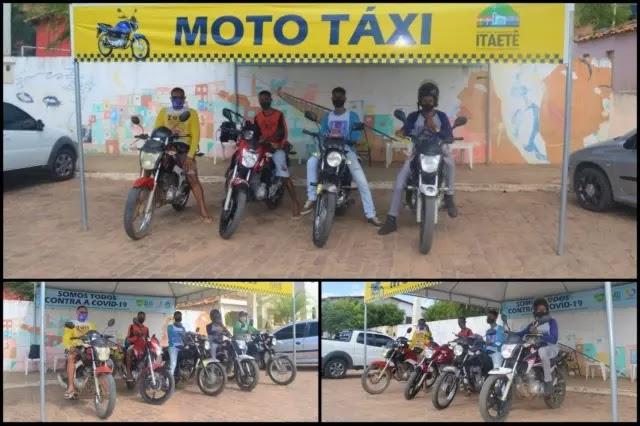 Após 10 anos de reivindicação, mototaxistas de Itaetê conseguem espaço para atuarem