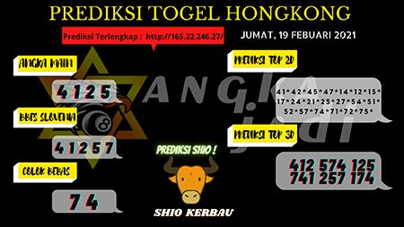 Prediksi Angka Jitu HK Jumat 19 Februari 2021