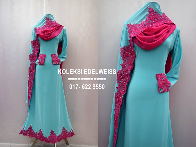 Baju kahwin Baju Tunang NIkah Simple Warna Hijau Turqouse