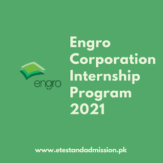 Engro Internship Program 2021