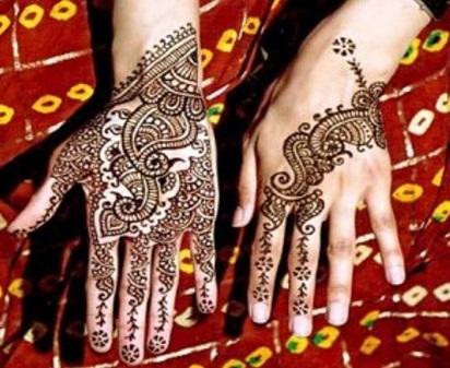 Cetakan Henna Pengantin Cara Praktis Menggunakan Henna Cara