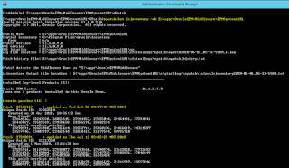 Batch script to extract all Oracle Hyperion patches currently applied