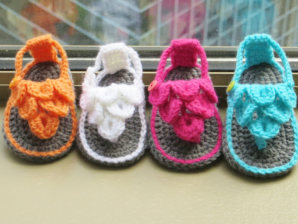 Crocodile St Baby Sandals Or Booties Crochet Pattern 012 Months