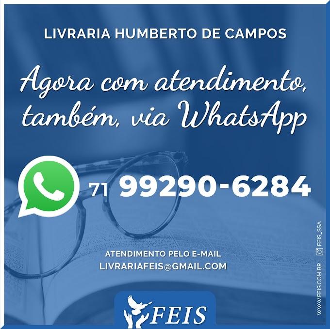Livraria da FEIS atende pelo Whatsapp