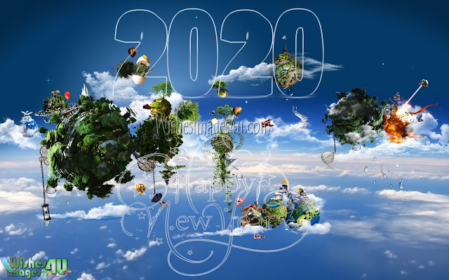 Happy New Year 2020 3D Background Wallpapers Download Free