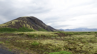 Scenery in Iceland in summer