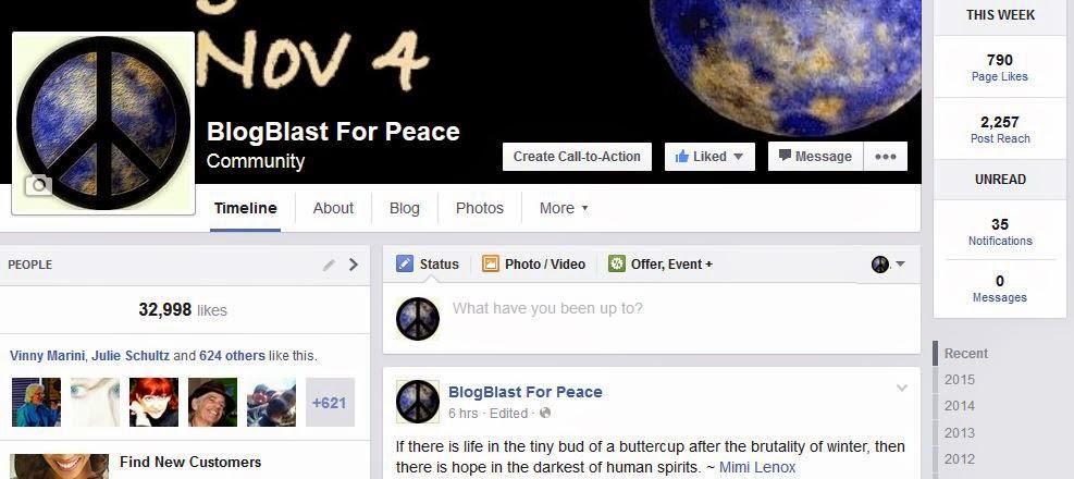 http://facebook.com/blogblastforpeace