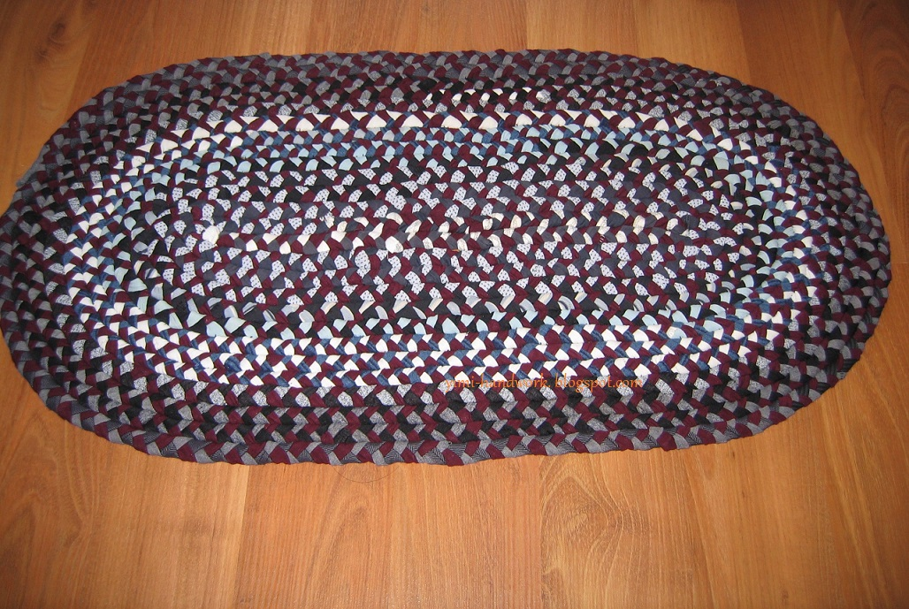 An Area Rug Made From My Old T Shirts And Yoga Pants
