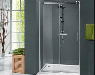 Dusch Pendeltür