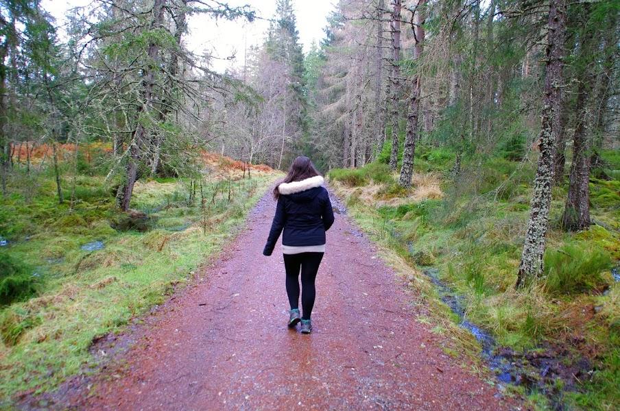 Girl Hiking in Scottish Higlands