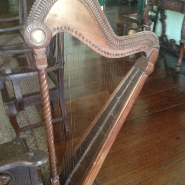 Old harp at the Don Bernardino Jalandoni Ancestral House and Museum