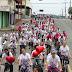 """Cerca de 250 pessoas participaram da pedalada """"Sou Doador"""", em Canoinhas"""