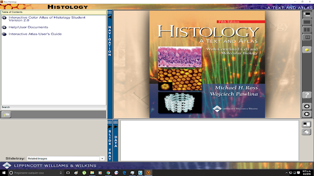 Ventana principal del Histology Text and Atlas de Ross
