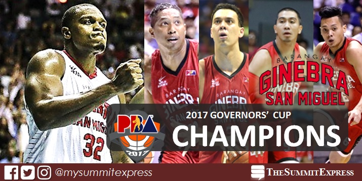 Ginebra wins back-to-back Governors' Cup title!