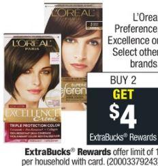 L'Oreal Hair Color CVS Deal 811-817
