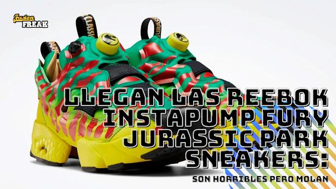 Son horribles pero sabes que las querrás: Reebok Instapump Fury Jurassic Park Sneakers: