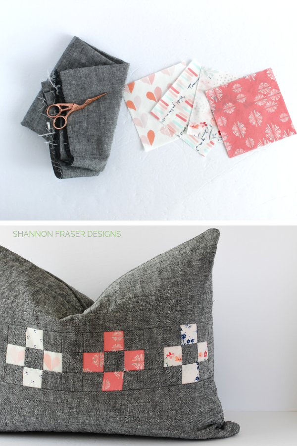 Paperie Collection + Linen | Spotlight Cushion | Rainy Day Sewing Book Tour | Shannon Fraser Designs #artgalleryfabrics #quiltedpillow #sewing