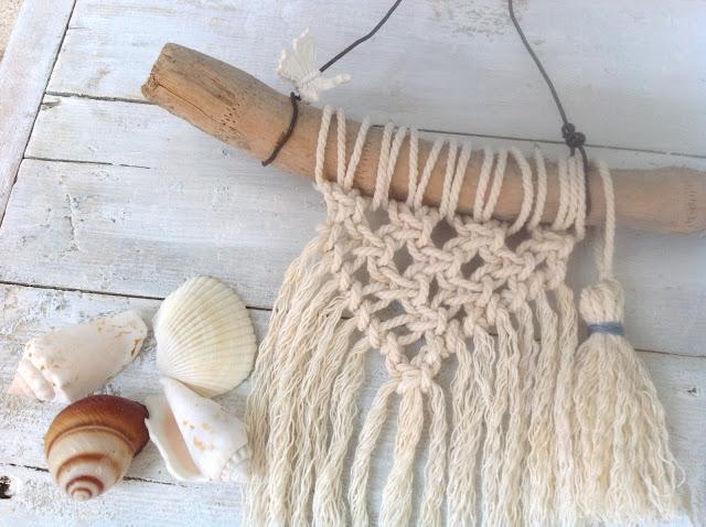 Mini tapiz de macramé