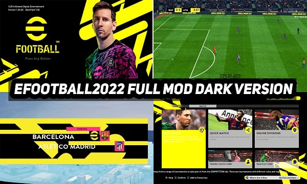 PES 2017 Full Mod eFootball 2022 Dark Version