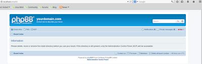 Forum web Menggunakan CMS php di linux