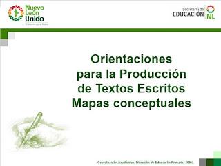 Orientaciones para la Producción de Textos Escritos Mapas conceptuales