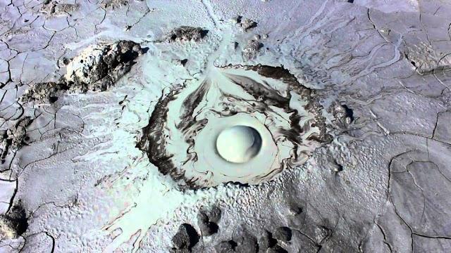 Strange human's eye - shaped volcano in Russia