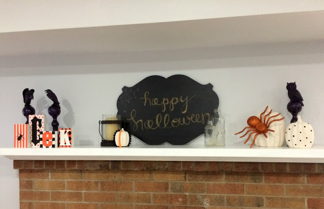 How to Create a Spooky Halloween Mantel on a budget.