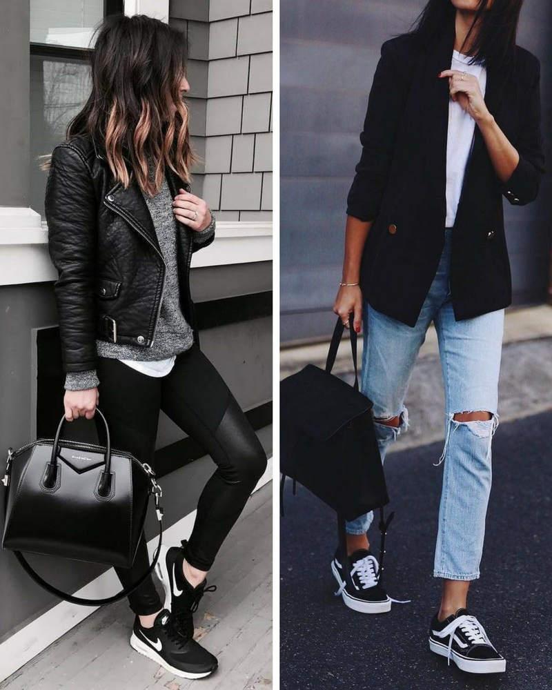 look del dia dia ropa zapatillas combinar zapatillas negras