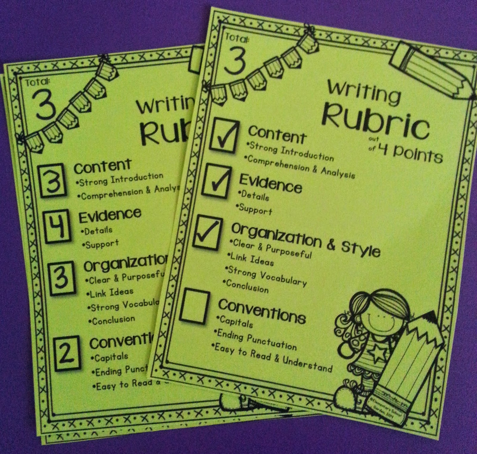 Elementary School Garden: Assessing Student Writing with a 4-Point Rubric