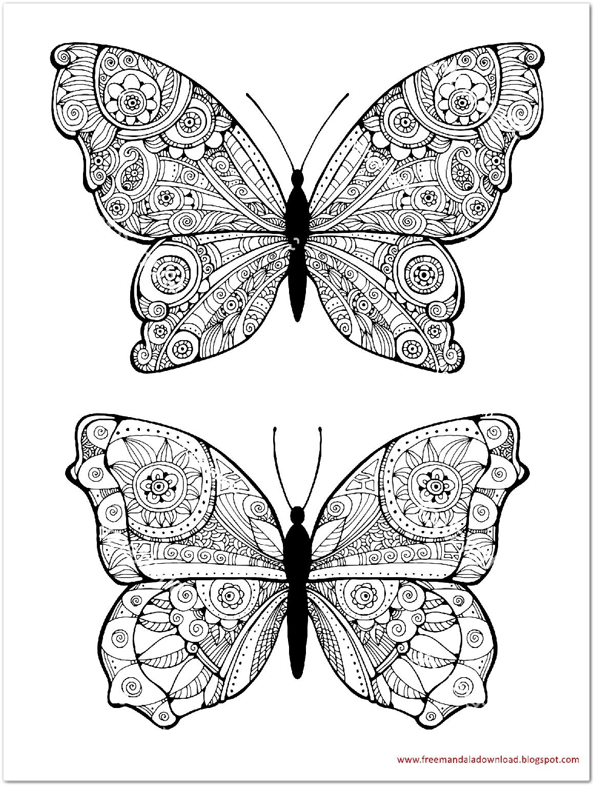 Schmetterling Mandala-butterfly Mandala