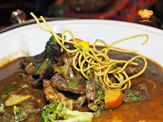 Roasted Beef Slice With Shallot Sauce And Corainder Pesto One  World Hotel Bandar Utama Cinnamon Coffee House