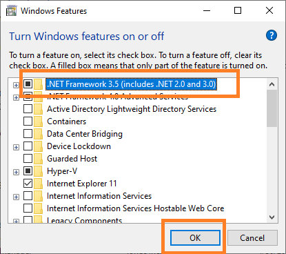 How to Solve Windows Framework 3.5 Missing Problem