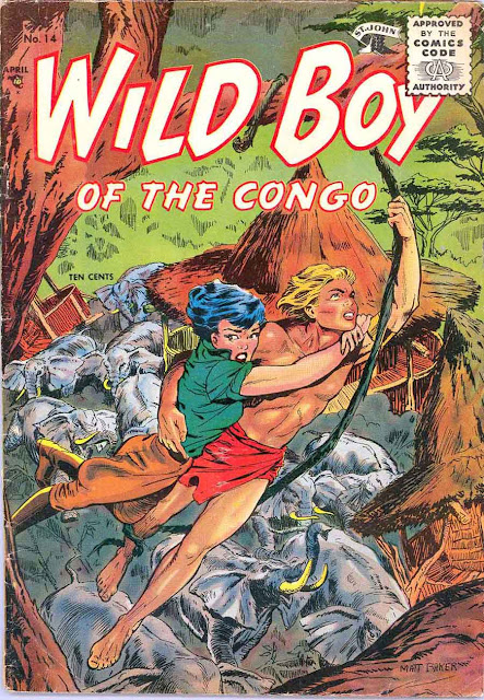 Wild Boy of the Congo v1 #14 - Matt Baker st john golden age comic book cover art