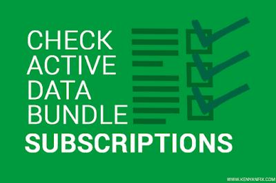 check active data bundle