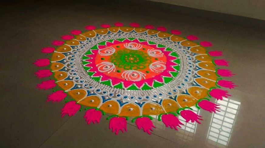 2017 Latest Rangoli Designs
