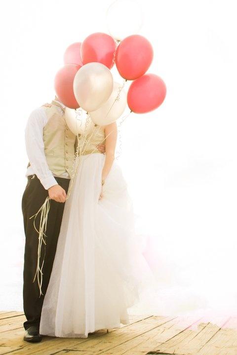 photo mariage ballons