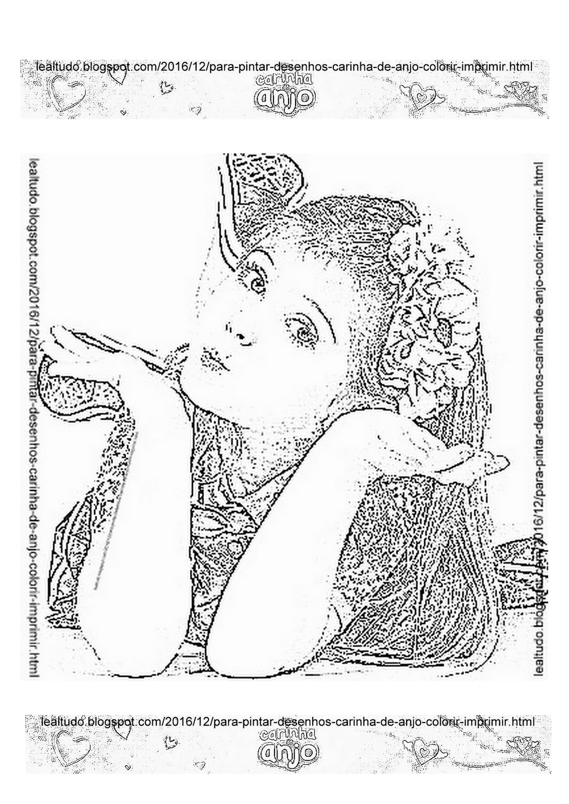 para pintar desenhos carinha de anjo para colorir da novela a