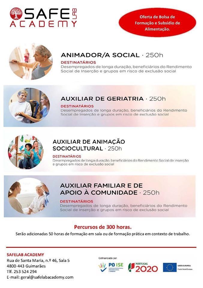 Formação financiada em Guimarães, Fafe e Vizela