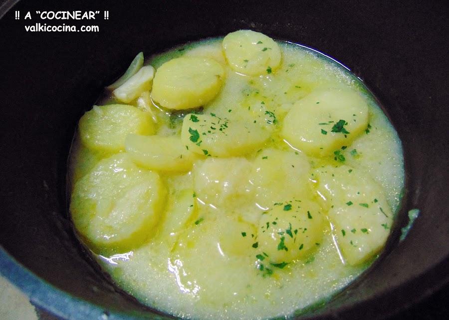 Patatas en blanco
