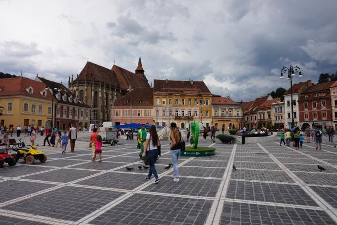 Lasten kanssa Brasovissa, Romania / vanhakaupunki