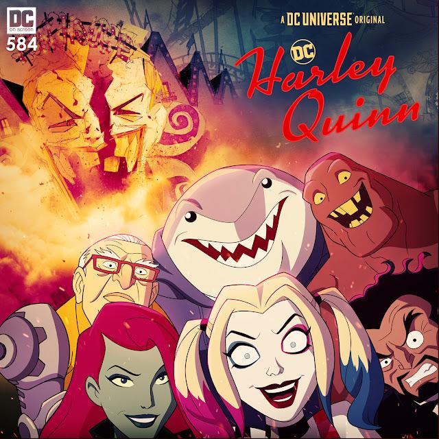 Harley Quinn, Poison Ivy, Clayface, Dr Psycho, Sy Borgman, King Shark