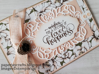 Magnolia Lane  Wedding Card Detailed Bands Dies Stampin Up