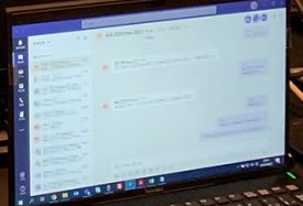 Janet Hsu laptop Microsoft Teams CAPCOM Great Ace Attorney Chronicles
